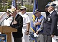 US Navy 050530-N-7281D-014 Sailors and World War II veterans pay tribute to fallen U.S. Navy submariners during a memorial service held on board Naval Base Point Loma, Calif.jpg