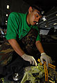 US Navy 070317-N-7780S-048 Aviation Structural Mechanic 3rd Class Osvalo Medrano performs routine maintenance by wiping down an actuator from the wing of an EA-6B Prowler.jpg