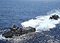 US Navy 070521-N-5067K-227 Echo company Battalion Landing Team (BLT) 2-1 approaches Austin-class amphibious transport dock USS Juneau (LPD 10).jpg