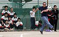 US Navy 090318-N-0807W-341 Students from Hiu Junior High School in Sasebo watch as Sailors from Fleet Activities Sasebo play a game of kick ball during a community service project.jpg