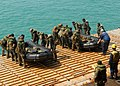 US Navy 100202-N-6692A-088 Marines assigned to the 31st Marine Expeditionary Unit (31st MEU) prepare to launch combat rubber raiding craft at the well deck of the amphibious dock landing ship USS Harpers Ferry (LSD 49).jpg