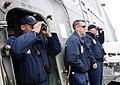 US Navy 100807-N-7058E-123 Lt. Cmdr. Antonio Hyde, left, monitors the range between the littoral combat ship USS Freedom (LCS 1).jpg