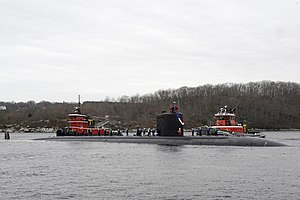 US Navy 111215-N-UM744-001 The Los Angeles-class attack submarine USS Miami (SSN 755) returns home to Submarine Base New London following a five-mo.jpg