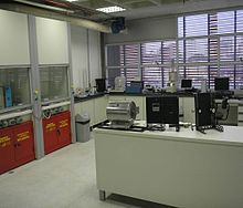 One of the laboratories in materials science from UFABC.