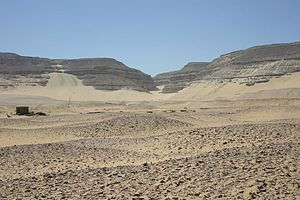 Umm El Qa'ab - General view of area, showing littering of pots