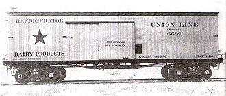 Union Refrigerator Transit Line - Image: Union Refrigerator Line refrigerator car 1895
