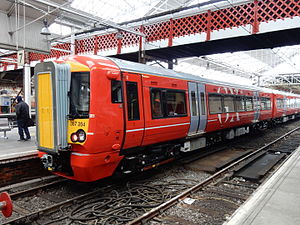 Gatwick Express - Image: Unit 387204 at Crewe on 19th February 2016 07
