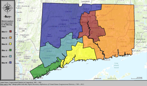 United States Congressional Districts in Connecticut, 1983 – 1992.tif