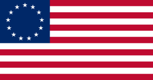 "English: The ""Betsy Ross"" 13-star US..."