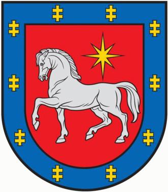 Anykščiai District Municipality - Image: Utena County COA