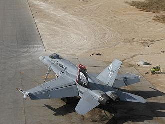 VMFA-122 - F/A-18 at Al Asad in 2009.