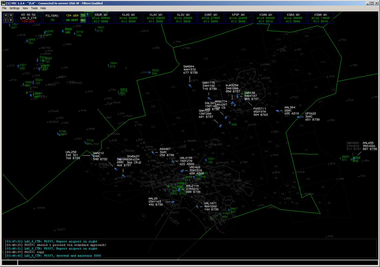 Virtual Air Traffic Simulation Network