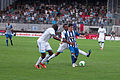 Valais Cup 2013 - OM-FC Porto 13-07-2013 - Rod Fanni, Rafidine Abdullah et Josué.jpg