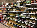 Vegetable oils etc. aisle in Meny Supermarket in Bergen Storsenter Shopping Mall, Bergen, Norway 2017-10-23 b.jpg