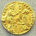 Venezia, ducato (zecchino) di pietro gradenigo, 1289-1310.JPG