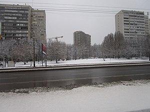 Заснеженный вид на проспект Вернадского (декабрь 2014) bb0a93e98b5