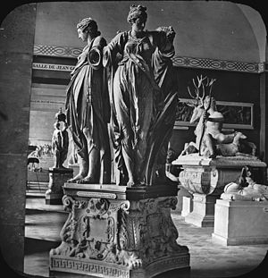 Cardinal virtues - Four cardinal virtues; Louvre, Paris. Brooklyn Museum Archives, Goodyear Archival Collection