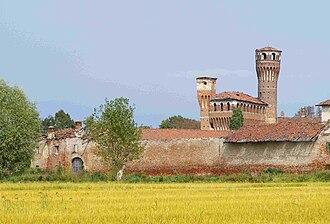 Santhià - View of the Castle of Vettigné