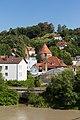 Vie from Fünferlsteg towards Severinstor, Passau, 07.07.201.jpg