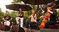 Vienna 2013-07-31 Stadtpark 221 Alp Bora Quartet - fr. left, Soner Teczan perc, Alp Bora g, Julia Pichler viol, Lukas Lauermann cello.jpg