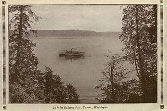 Point Defiance Park - View from Point Defiance Park circa 1916