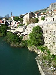 View from The Old Bridge in Mostar.jpg