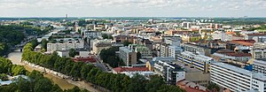 Aerial view of Turku from Turku Cathedral