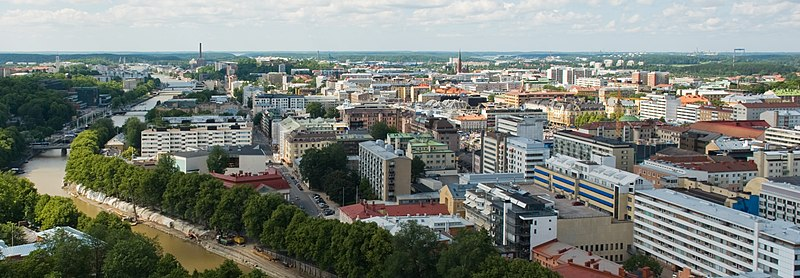 Utsikt över Åbo från domkyrkan