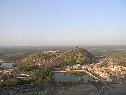 Blick über Shravanabelagola