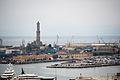 View of the Lighthouse of Genoa, the Port of Genoa. Liguria, Mediterranean Sea, Italy, South Europe.jpg
