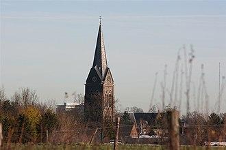 Bocholtz - The church in Bocholtz as seen from the Orsbacherweg