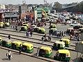 View over Moto-Taxi Stands - New Delhi Railway Station - New Delhi - India (12770119684).jpg