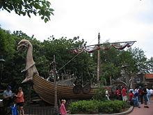 Vikingschip (imitatie te zien in Epcot)