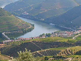 Douro river in Spain and Portugal
