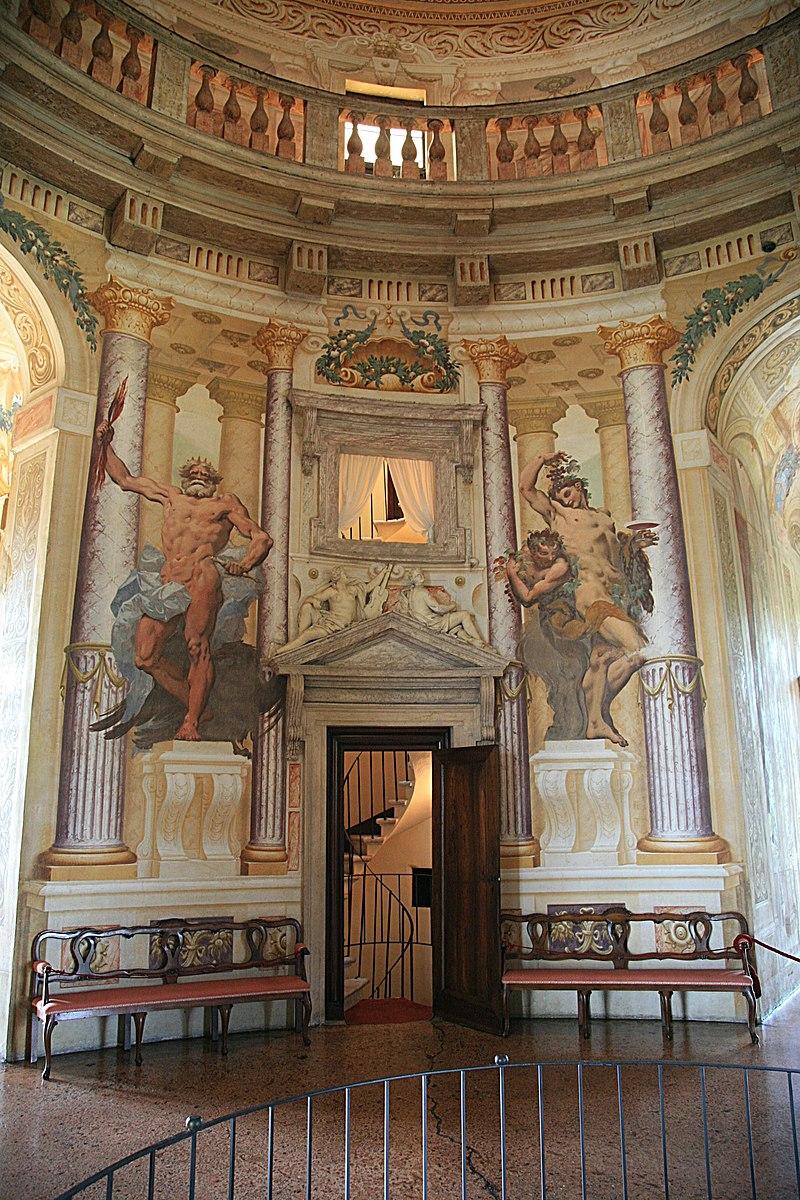 The interior de... Palladio Villa Rotunda