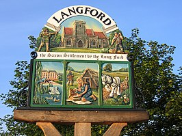 Village sign detail, Langford, Beds - geograph.org.uk - 187382.jpg