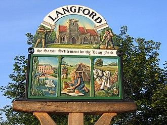 Langford, Bedfordshire - Langford village sign