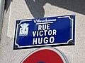 Villeurbanne - Rue Victor Hugo - Plaque (avril 2019).jpg