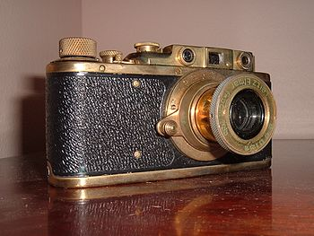 Leica I with added viewfinder