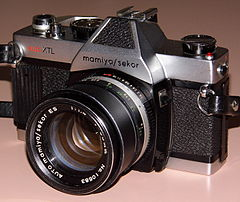Vintage Mamiya-Sekor Auto XTL 35mm SLR Camera, Made In Japan, Circa 1971 (13544977303).jpg