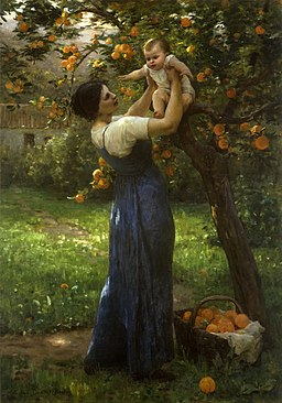Virginie Demont-Breton - Mother and child in an orange grove