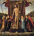 Vittore carpaccio, cristo tra quattro angeli con gli strumenti della Passione, 1496, udine.jpg