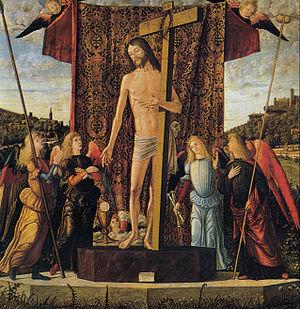Christ between Four Angels - Image: Vittore carpaccio, cristo tra quattro angeli con gli strumenti della Passione, 1496, udine
