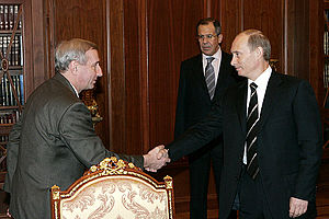 Vyacheslav Kovalenko - Kovalenko with Russian President Vladimir Putin on 18 January 2007.
