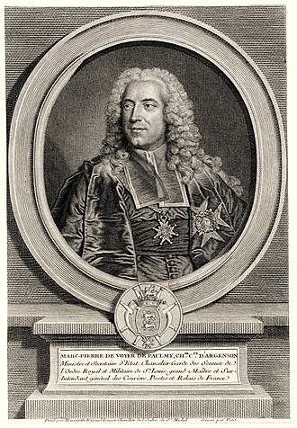 Marc-Pierre de Voyer de Paulmy d'Argenson - Marc-Pierre de Voyer de Paulmy d'Argenson