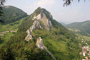 Slovak-Moravian Carpathians - Vršatec klippe of the White Carpathians, near Vršatské Podhradie