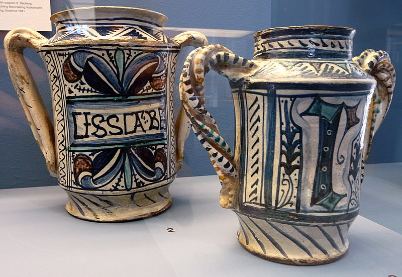 File:WLANL - jankie - Majolica, Apothekerspotten (albarello, Italy, 1450-1480).jpg