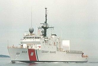 United States Coast Guard Cutter - USCGC Harriet Lane, a Medium Endurance Cutter (WMEC)
