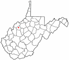 Location of Elizabeth, West Virginia