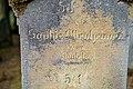 Waibstadt - Jüdischer Friedhof - Neuer Teil Reihe 2 - Grabstein Sophie Ottenheimer aus Bonfeld - Rückseite 2.jpg